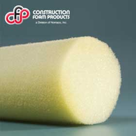 OCFoam open-cell polyurethane foam backer rod that is used in window glazing