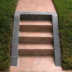Rock stairway protected and decorated with Excellent Coatings