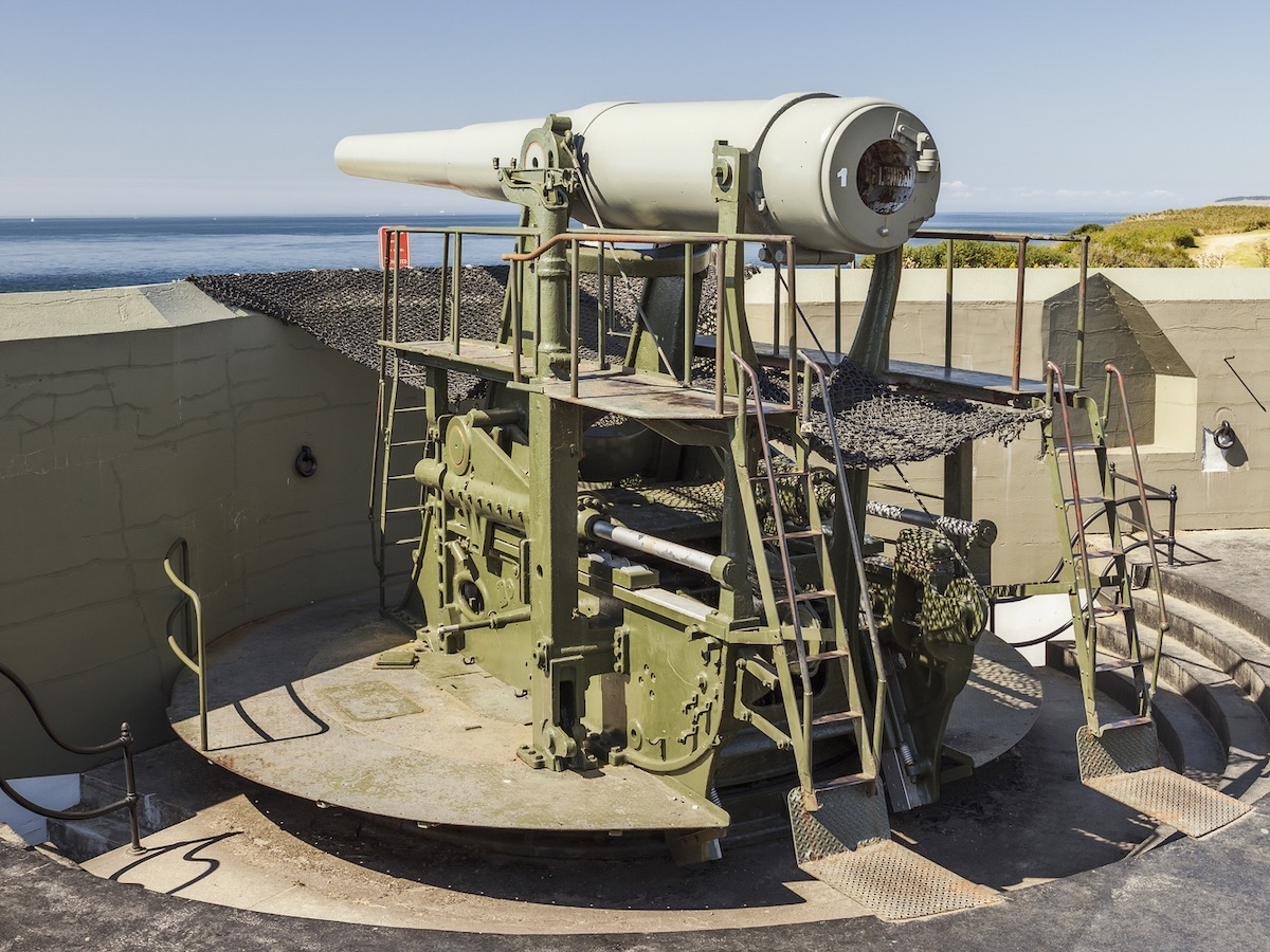 Coastal artillery gun at Fort Casey State Park, Whidbey Island, Washington