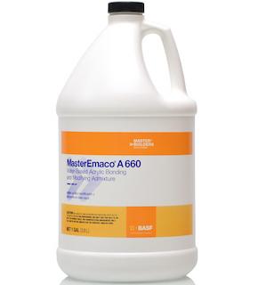 MasterEmaco® A 660 Water-Based Acrylic Bonding and Modifying Admixture