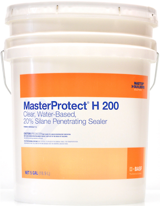 MasterProtect® H 200 Clear, Water-Based, 20% Silane Penetrating Sealer