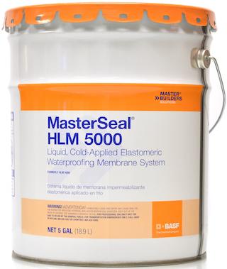 MasterSeal® HLM 5000 Liquid, Cold-Applied Elastomeric Waterproofing Membrane System