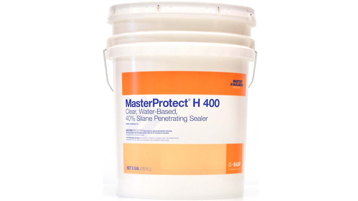 MasterProtect H 400 water-based, 40% silane, penetrating sealer packaged in 5 gallon pail